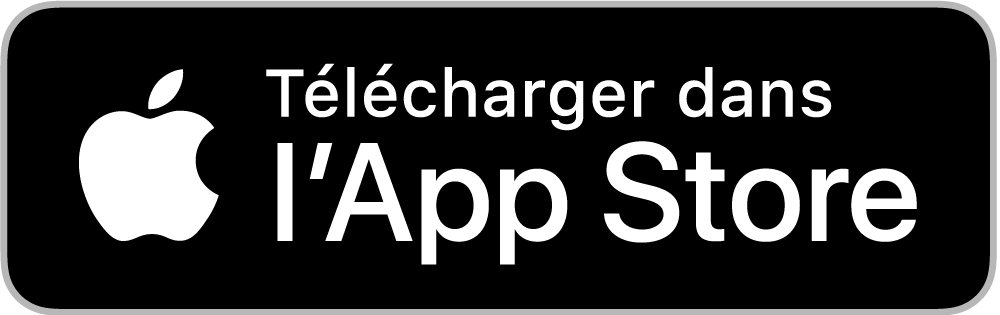 Application disponible sur le apple app store