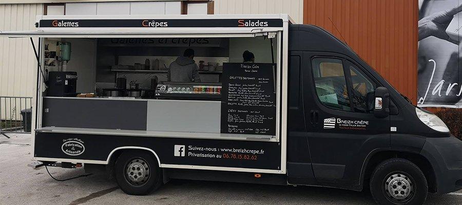 Foodtruck breton et galettes bretonnes sur la ZA de Dardilly et de Limonest